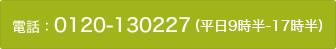 電話: 0120-130227 (平日9時半-17時半)